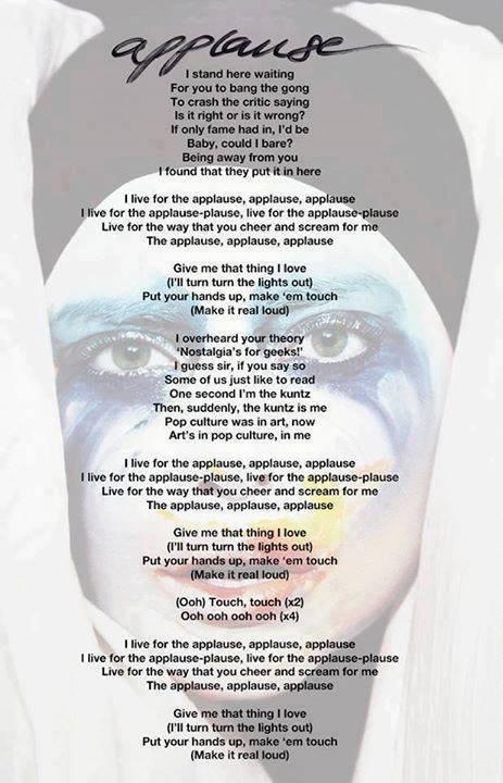 gaga applause lyrics