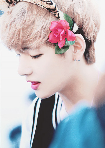 V (BTS) wallpaper with a bouquet entitled ☆ Kim Taehyung / V ☆