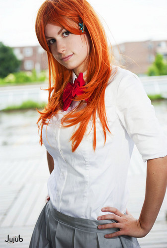 ब्लीच ऐनीमे वॉलपेपर containing a portrait called ✼Orihime Inoue Cosplay✼