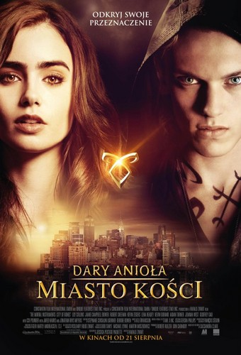 Jace & Clary پیپر وال possibly with عملی حکمت called 'The Mortal Instruments: City of Bones' Polish poster