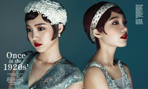 130804 Eunji & Naeun for Singles Magazine (Aug. 2013)