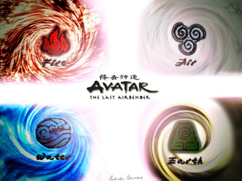 Avatar - La leggenda di Aang wallpaper possibly with a compact disk and an embryonic cell titled 4 Elements