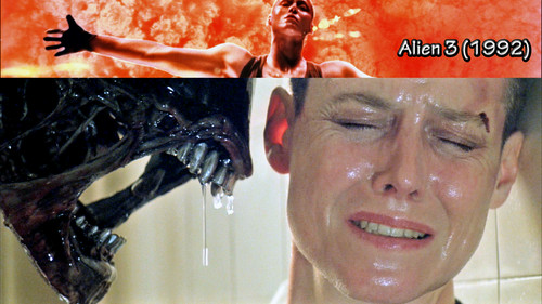 films achtergrond probably containing a triceratops and a portrait entitled Alien 3 (1992)