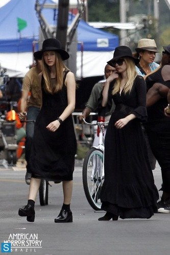 American Horror Story - Season 3 - BTS Set foto - 5th August 2013