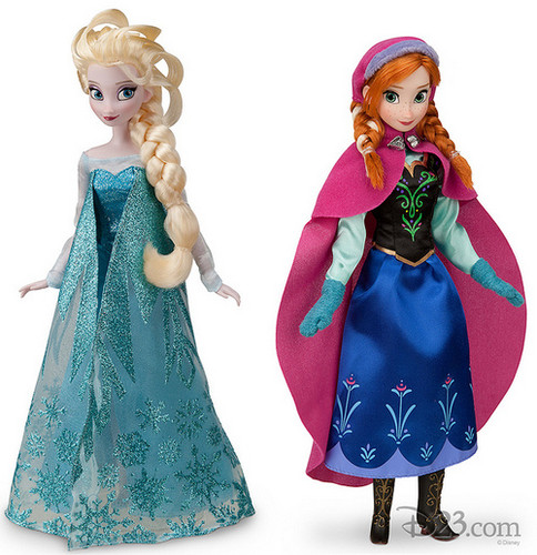 Anna and Elsa Disney Store búp bê