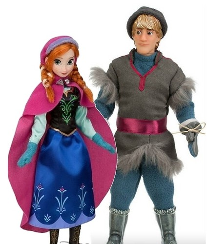Anna and Kristoff Disney Store bambole
