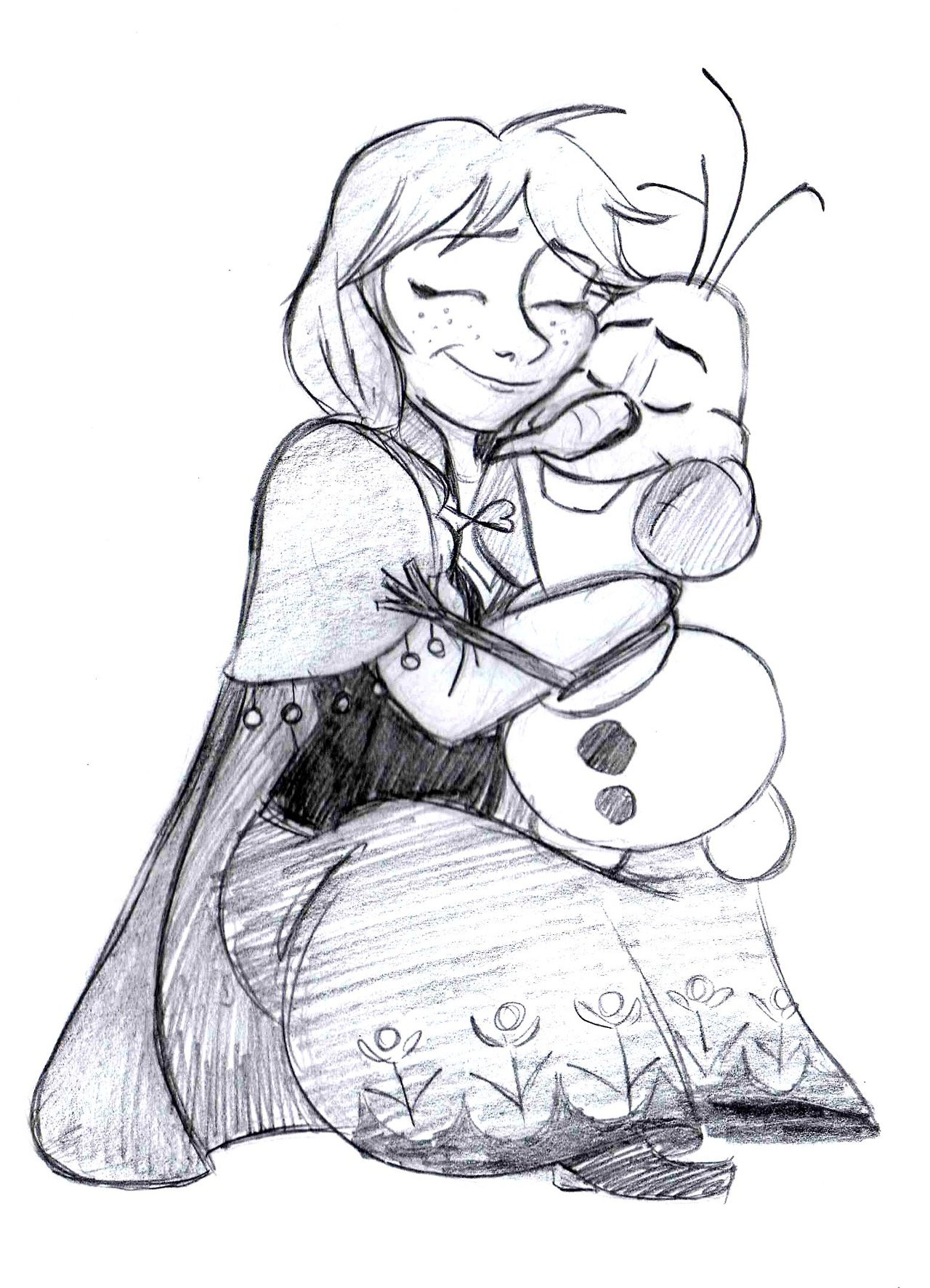 Anna and olaf frozen fan art 35272832 fanpop - Frozen anna and olaf ...