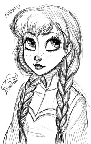 Anna - frozen Fan ArtHow To Draw Kristoff From Frozen Easy