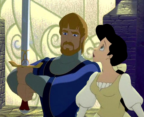Disney crossover karatasi la kupamba ukuta called Arthur and Guinevere (Grown)
