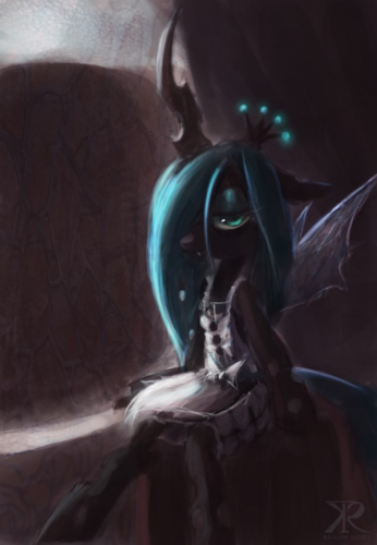 MLP FIM Queen Chrysalis fond d'écran possibly containing a triceratops entitled Awesome Chrysalis pics