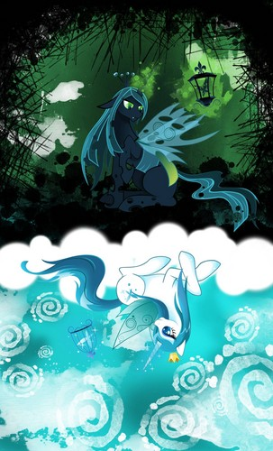 MLP FIM Queen Chrysalis fond d'écran possibly with animé entitled Awesome Chrysalis pics