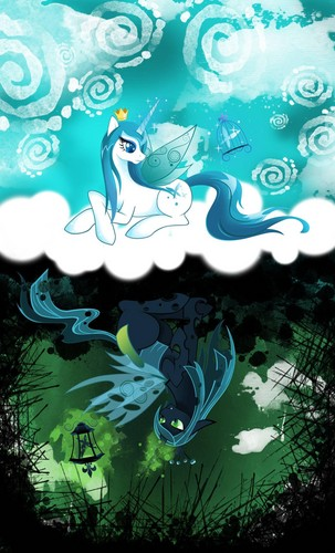 MLP FIM reyna Chrysalis wolpeyper probably with anime called Awesome Chrysalis pics