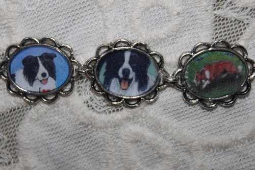 BORDER колли dog pictures bracelet