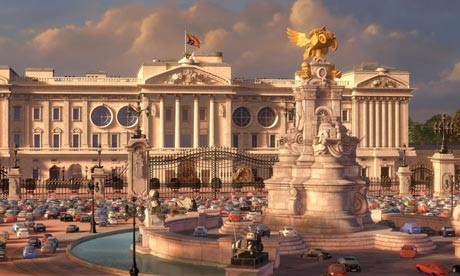 Disney Pixar Cars 2 wallpaper possibly containing a brownstone titled Buckingham palace