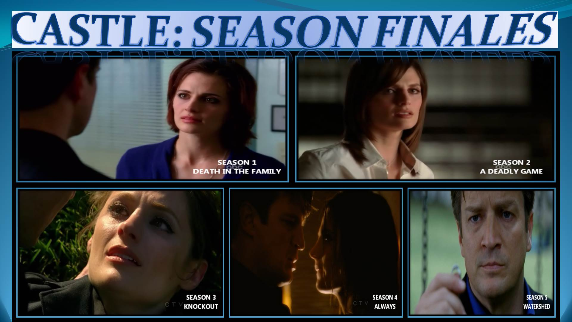 CASTLE: SEASON FINALES