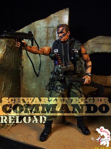 Arnold Schwarzenegger Hintergrund containing a schütze entitled Calvin's Custom One Sixth COMMANDO Figure