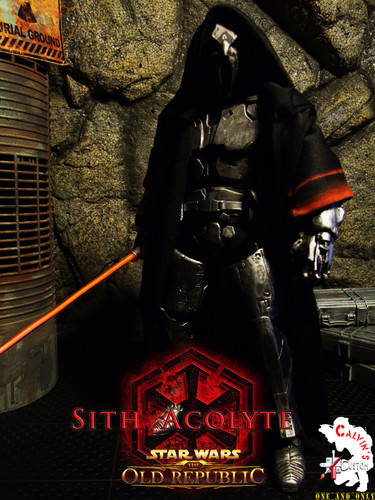 Calvin's Custom One Sixth SITH ACOLYTE with light-up saber