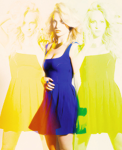 Caroline Forbes wallpaper with a cocktail dress called Candice Accola for Nouveau Magazine