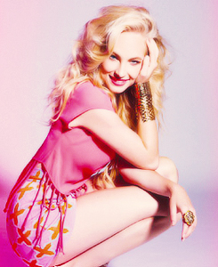Caroline Forbes wallpaper possibly containing a bustier and a leotard called Candice Accola for Nouveau Magazine