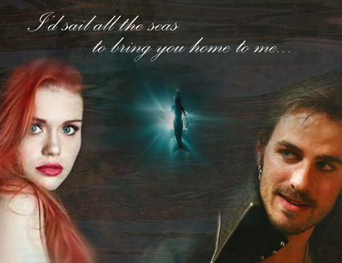 Captin Hook and Ariel