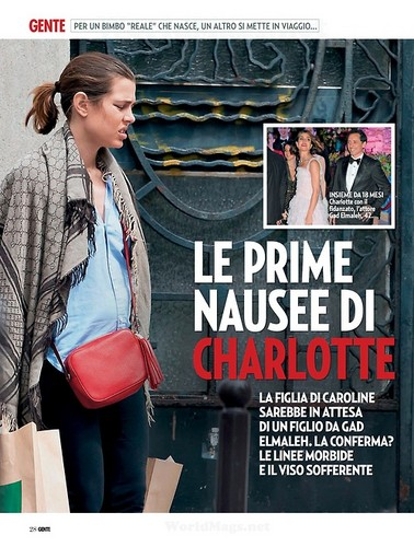 princess charlotte Casiraghi wallpaper containing anime called Charlotte Casiraghi of Monaco is pregnant