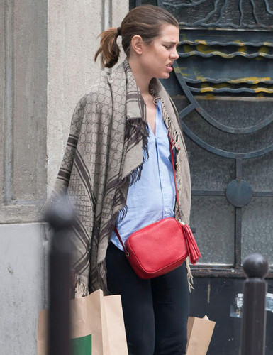 princess charlotte Casiraghi wolpeyper possibly containing a street, an outerwear, and a hip boot called charlotte Casiraghi of Monaco is pregnant