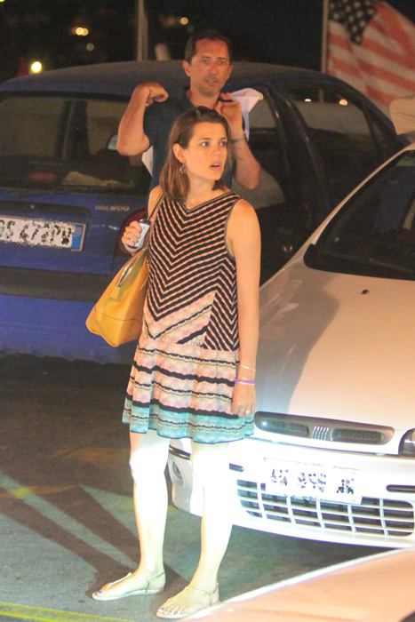 charlotte Casiraghi seen shopping for baby clothes