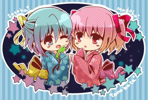 Chibi Sayaka & Madoka
