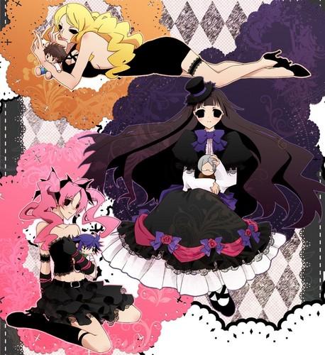 Chizuru, Sunako, and Megumi