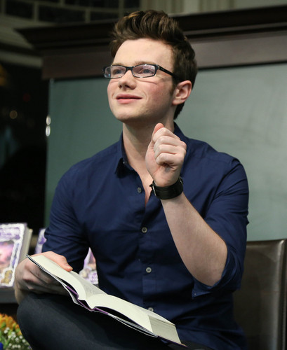 Chris Colfer at the book tour