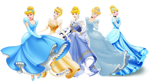 disney princesas wallpaper titled cinderela Dress Evolution