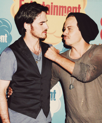 Colin O'Donoghue wallpaper possibly with a business suit called Colin O'Donoghue and Michael Raymond-James at Comic Con