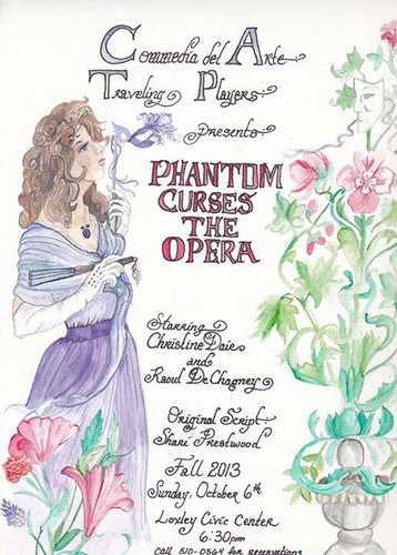 Commedia Del Arte presentes Phantom curses the Opera Flyer