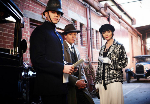 Constable Collins, Detective Inspector Robinson and Miss Fisher