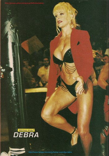 Former WWE Diva... Debra پیپر وال with a bikini titled Debra - Backlash 99' ringside candid
