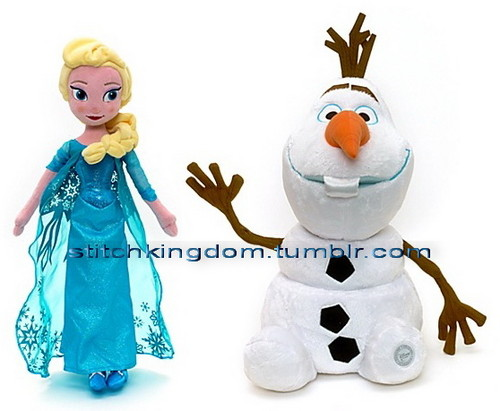 Disney's アナと雪の女王 Elsa and Olaf plush from ディズニー Store
