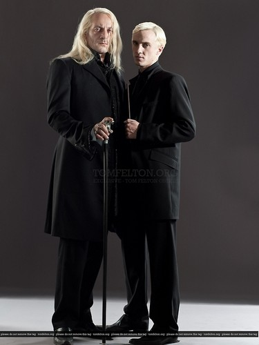 Draco Malfoy wallpaper titled Draco Malfoy & Lucius Malfoy