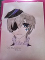 Drawing of Ciel Phantomhive - lulu_kururugi fan art