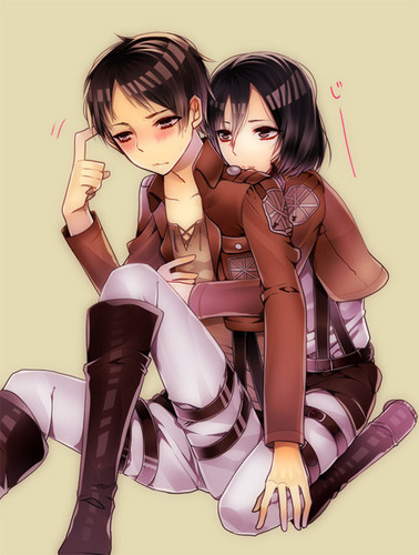 Shingeki no Kyojin (Attack on titan) wallpaper possibly with a hip boot and anime entitled Eren and Mikasa