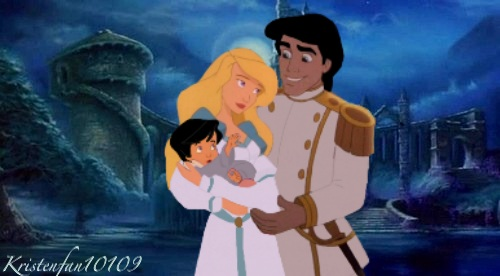 disney crossover wallpaper probably containing a portrait entitled Eric and Odette's daughter