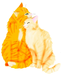 Firestar and Sandstorm - warriors-novel-series icon