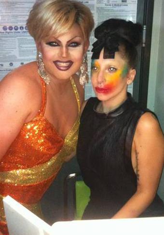 Gaga at Mickey's Gay Bar in West Hollywood (Aug. 12)