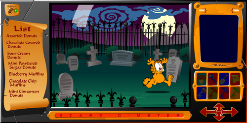 garfield wallpaper probably with a sign entitled Garfield's Scary Scavenger Hunt