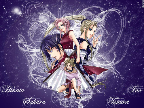 NARUTO WOMEN wallpaper probably containing anime titled Girl Power