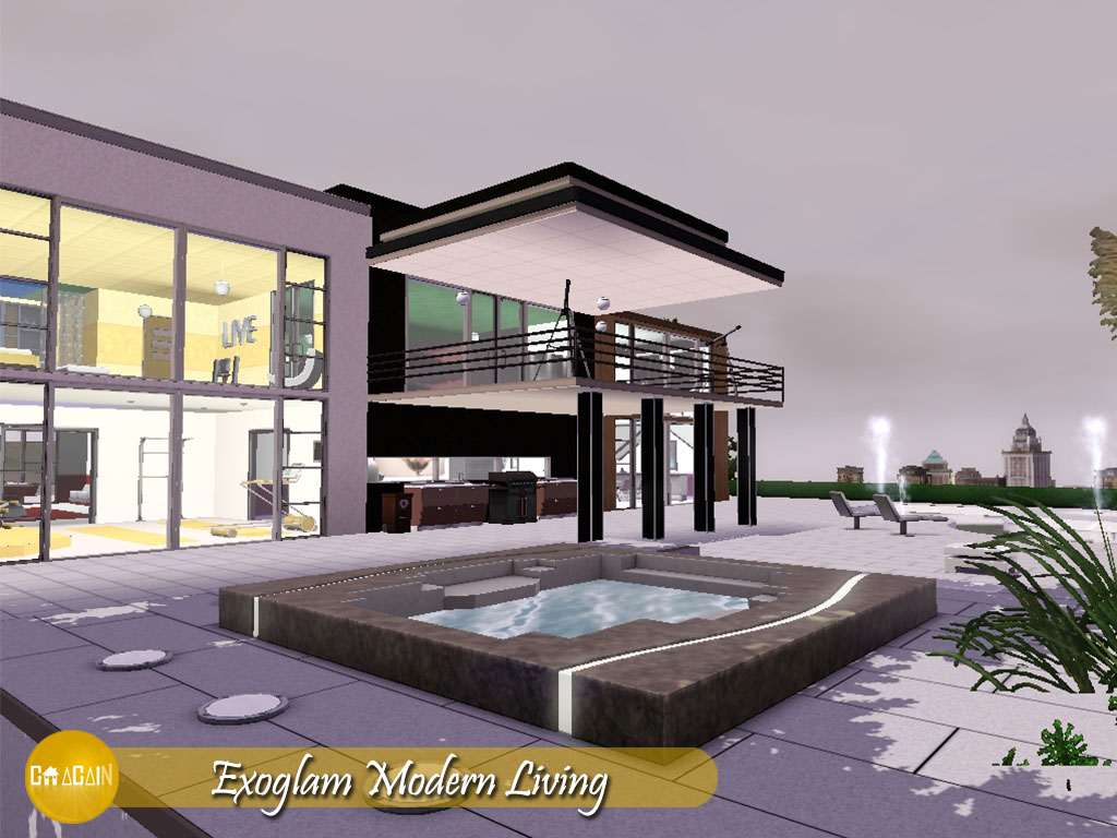 Idee sims 3 küche modern goagain exoglam modern living the sims 3 photo