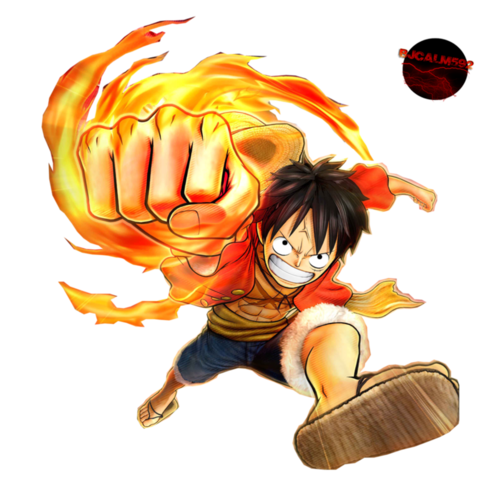 Monkey D. Luffy karatasi la kupamba ukuta called Gomu Gomu No... Luffy!!! XD