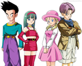Goten X Bra and Marron X Trunks - dragon-ball-females photo