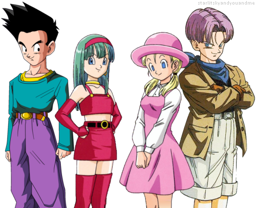 Goten X Bra and Marron X Trunks