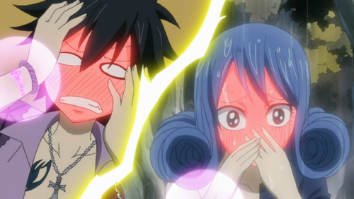 Gray & Juvia blushes<3