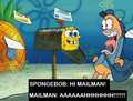 HI MAILMAN! - spongebob-squarepants photo